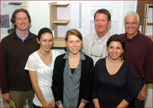 NCSU Team Claim Sigmon Memorial Scholarship Masonry Design Award