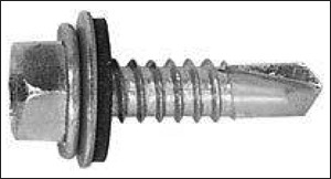 HWD self-drill/self-tap screw with sealant washer