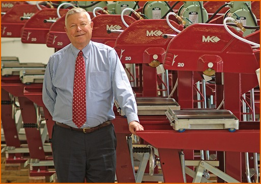 Bob Delahaut, President of MK Diamond, with the MK-5000