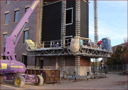 Shown is the JP Cullen & Sons jobsite at Oshkosh University in Oshkosh, Wis.