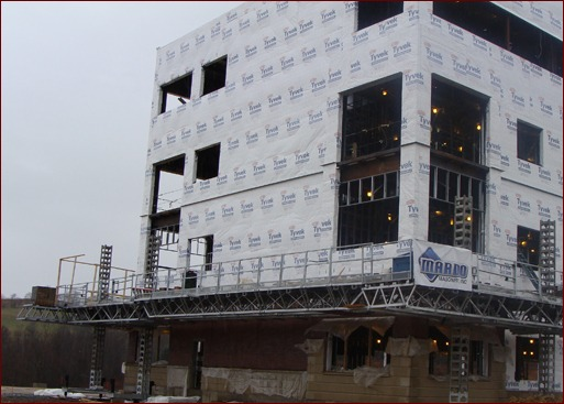 Shown is Mardo Masonry's jobsite, the SDI Project Mt. Morris, Pa.