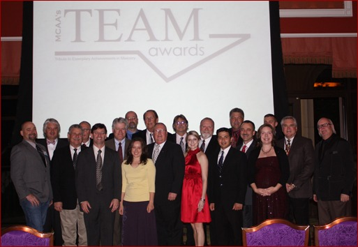 Contractors, architects and suppliers are awarded at the 2011 MCAA TEAM Awards.