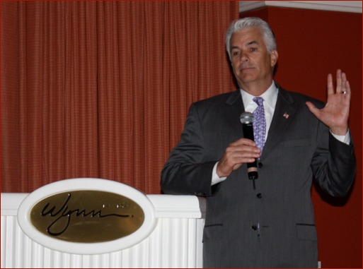 Senator Mike Ensign (R-NV) spoke during the MAC PAC event, held during the MCAA Convention. The purpose of MAC PAC is to help elect federal candidates to office who are pro-construction and will give the MCAA and the masonry industry a fair hearing on industry views.