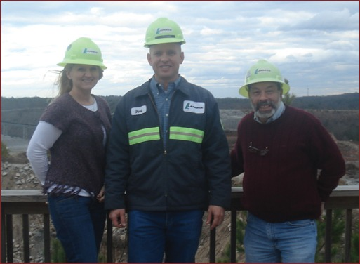 In January, I toured the Cumming, Ga., Lafarge Rock Quarry with Plant Manager David Stewart (center) and Masonry Advertising Director Marvin Diamond (right). Read about the quarry on pp. 30 – 31 of this issue.