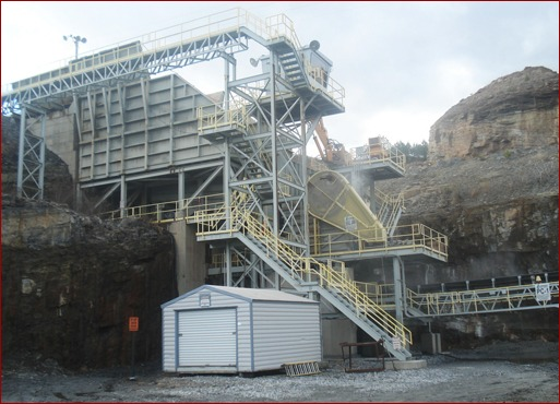 Lafarge's Rock Quarry and Aggregate Lab