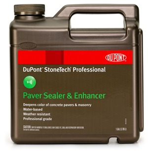 DuPont's StoneTech Professional Paver Sealer and Enhancer showcases the beauty of concrete pavers and masonry, while helping to protect the substantial investment homeowners have made in natural stone.