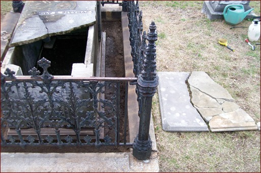 Jonathan Appell explains the process of saving one of Decatur, Ga's, historic monuments, a box crypt tomb known as Miss Emily.