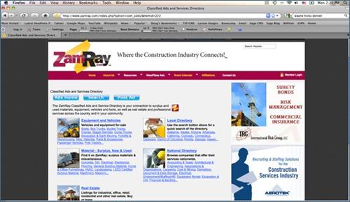 Surplus Inventory Website for Contractors