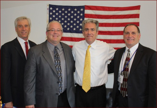 Mark Kemp, Jeff Buczkiewicz, Congressman Joe Walsh of Illinois, and Jim O'Connor.