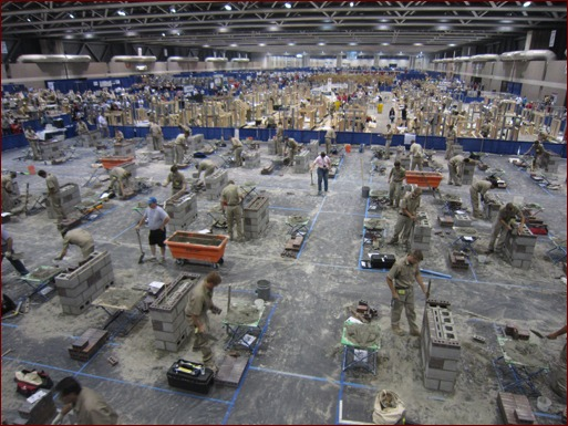 Masonry competitors (shown in the foreground) were part of more than 5,000 students who competed in 94 different career trade, technical and leadership fields.