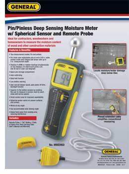 Deep-Sensing Moisture Meter