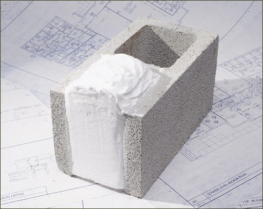 CMU foam is specified worldwide for the high-performance and quick installation of the product.