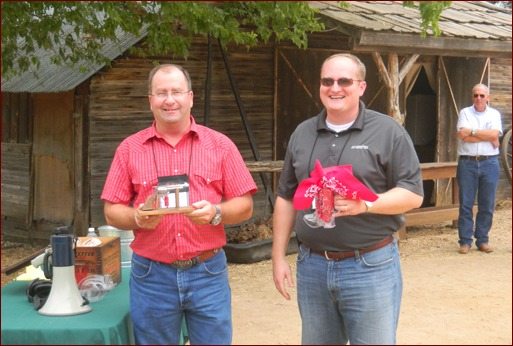 Sutter Masonry's Mike Sutter finished in first place and Oldcastle's Andy Brinkmeier took second in MCAA's gun shootout at Enchanted Springs Ranch.