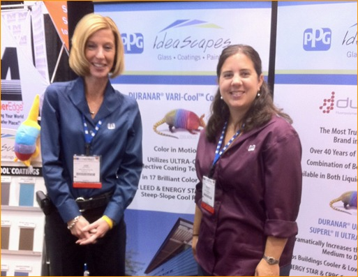 Jodi Pitchok and Sharon Bird from PPG Industries had great attendance at their booth.