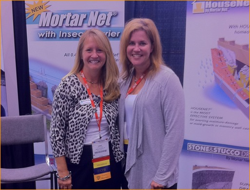 Anne Roeper and Cassie Mellon stayed busy at the Mortar Net USA booth.