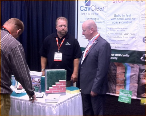 Cav Clear had study traffic at their booth during CONSTRUCT.
