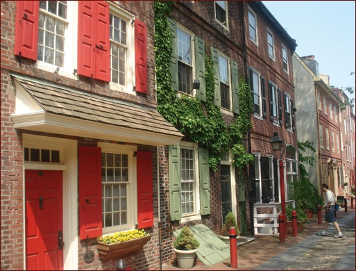 Elfreth's Alley in Philadelphia is known as the oldest residential street in America, and it is a national historic landmark. The homes are charming, expensive and still standing today, because they were constructed with bricks. Masonry at its finest!