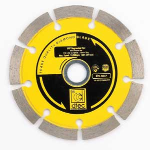 Segmented-Style Diamond Blades for Contractor Series
