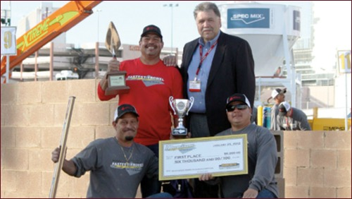 2012 Fastest Trowel on the Block, First Place - Mike Canez III