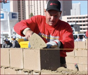 2012 Fastest Trowel on the Block, Second Place - Bob Christensen