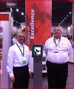 Shown are Tony Sorcic and Bill Behie with Holcim, which debuted an exciting new construction weather app this year.