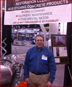 Randy Weil with Kem-O-Kleen boasted the company's latest and greatest products.