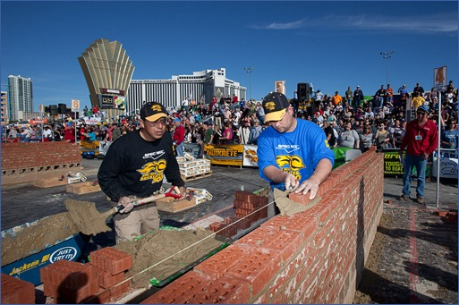 First-place winner Leif Reints from Neosho, Mo., was declared World's Best Bricklayer.