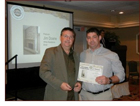 Dan is shown left with an award winner, Jim Doane