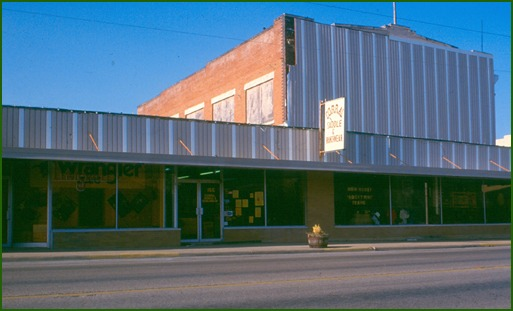 Lewisville storefront facade before the makeover