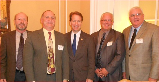 Shown are Steve Hunt, Jim O'Connor, Chief Deputy Whip Peter Roskam, Jeff Buczkiewicz and John Smith.