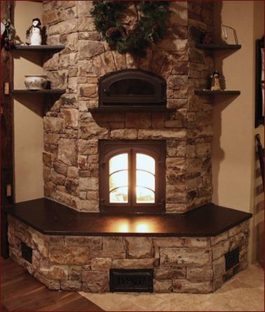 Contraflow masonry heater by Bob Weaver Masonry