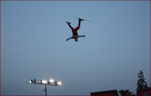 MCAA Chairman John Smith Jr. performs his jump.