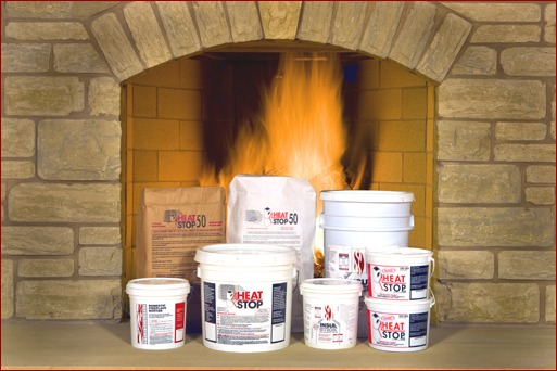 Refractory mortar for masonry fireplace and chimney construction
