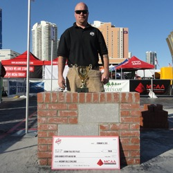 Shown is Jeremiah Holland, the 2013 Masonry Skills Challenge Second Year winner.