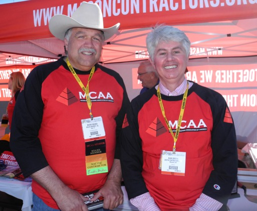 MCAA Past-presidents Mackie Bounds and Alan Griffin