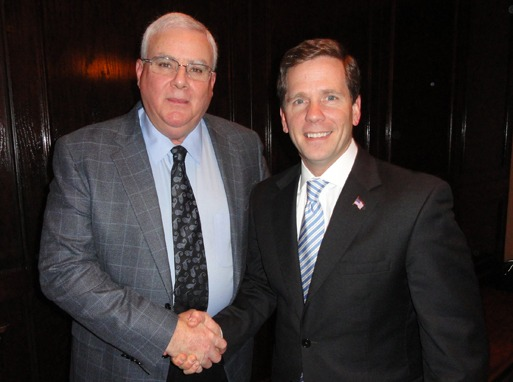 Shown are MCAA Chairman John Smith (left) with Former Congressman Bob Dold at the MAC PAC reception.