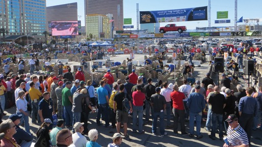 The 2013 SPEC MIX BRICKLAYER 500 drew crowds of more than 4,000 to the Gold Lot of the Las Vegas Convention Center.