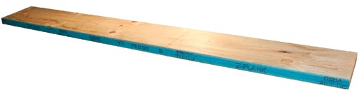 LVL scaffold plank that has third-party inspection stamp, OSHA compliant stamp, date and proof testing