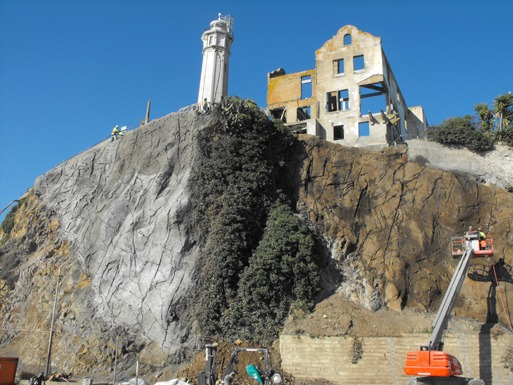 "QUIKRETE Cos. recently supplied shotcrete in 3,000-pound bulk bags for a restoration project on Alcatraz Island, also known as ""The Rock."""