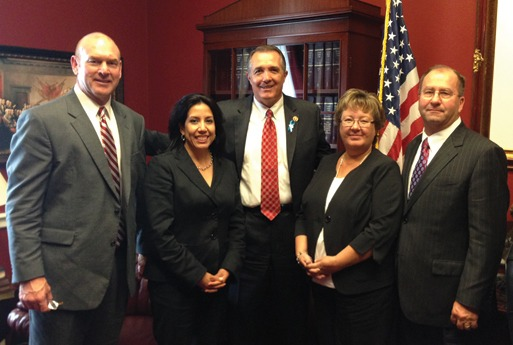 John Heffernan, Oldcastle; Lisa Prichard, Arizona Masonry Guild; Rep. Trent Franks (R-AZ); Colleen and Mike Sutter, Sutter Masonry.