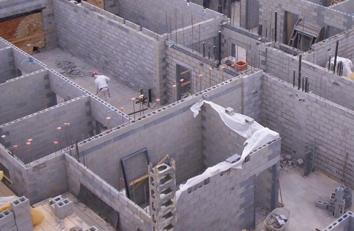 Shown is fire wall construction compartmentation. Image courtesy of Pennsylvania Concrete Masonry Association