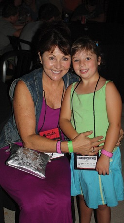 "Debby Daniel (left) with Logan Buczkiewicz (right) at the reception held prior to the ""Fantasmic!"" Show at Disney Hollywood Studios."