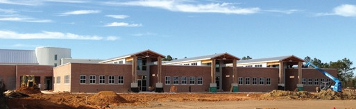 Architects designing Hancock Elementary School in Kiln, Miss. – slated to be the first LEED-certified K-12 school in the state – used product benchmarking tools to help select the CalStar bricks and the bio-based floor tiles.