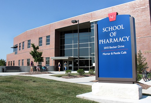 Shown is the new KU Pharmacy Building, designed with moisture management built in, including the Mortar Net with Insect Barrier mortar dropping collection device and WeepVent mesh weep vents from Mortar Net Solutions.