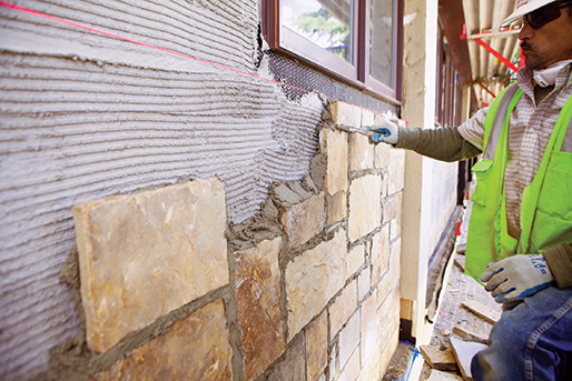 adding drainage to stone veneers and adhered masonry masonry magazine