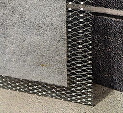 combined wire lath and drainage mesh all in one