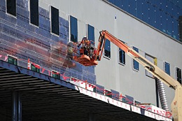 Firestone Building Products Enverge Cavity Wall insulation system at the University of Colorado's new Academic Building in Denver