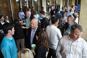 Members of the NCMCA enjoy the Annual President's Reception at the April 2015 NCMCA Convention in Myrtle Beach, S.C.