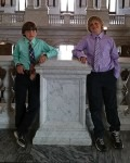 Tyler (left) and Riley McCauley enjoy a tour of the U.S. Library of Congress.