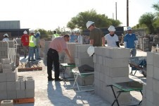 Shown are participants in the Arizona Masonry Tender Training Program.